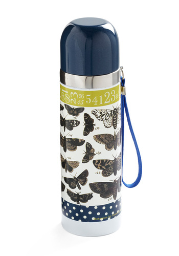 All the Buzz Travel Mug by Disaster Designs - Green, Tan / Cream, Black, Polka Dots, Multi, Blue, White