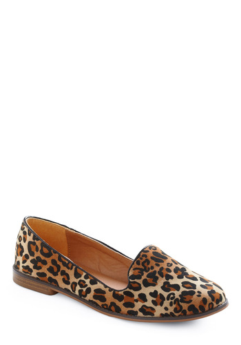 As a Matter of Flat in Leopard - Casual, Brown, Black, Animal Print, Flat
