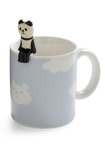 Height of the Morning Mug in Panda - Blue, Dorm Decor