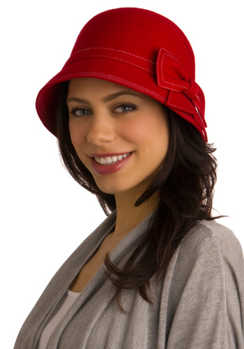 With the Breeze Hat - Red, Solid, Bows, 20s