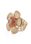The Flower of Good Ring - Gold, Red, Blue, Flower, Party, 70s
