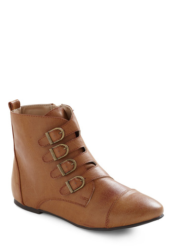 Anywhere You Roam Boot - 70s, Brown, Buckles, Casual