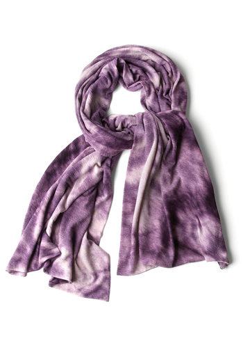 Dappled Dusklight Scarf - Casual, Boho, Purple, Tie Dye, Winter, Vintage Inspired, 70s