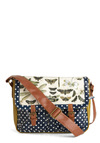 All the Buzz Satchel by Disaster Designs - Green, Blue, Brown, Polka Dots, Print with Animals, Buckles, Multi, White, Work