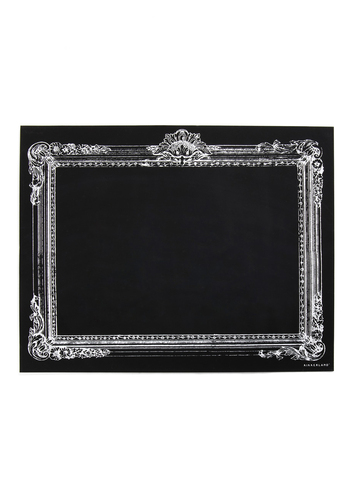 Retro Blackboard in Rectangle - Black, Casual, Dorm Decor