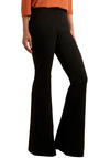 Fair is Flared Pants by BB Dakota - Long, Work, 70s, Black, Solid