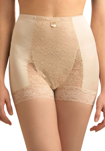 Bold Hollywood Undies in Beige - Solid, Lace, Cream, Bows, Pinup, Variation, Vintage Inspired, 50s, Sheer, Best Seller, Top Rated