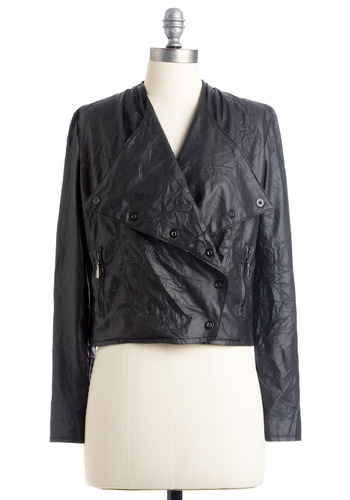 VIP Guest List Jacket - Urban, Black, Long Sleeve, Solid, Fall, 1.5, Mid-length