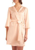 Elegance at Its Best Robe in Peach