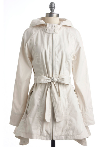 Every Day Is a Windy Road Jacket by Jack by BB Dakota - Long, Cream, Solid, Pockets, Long Sleeve, Buttons, Casual, Spring, 1.5
