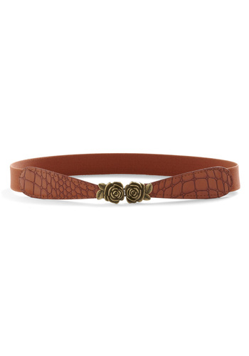Clasp Me Close Belt - Brown, Animal Print, Flower