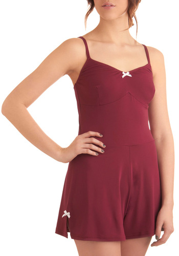 Day of the Dance Bodysuit in Magenta - Casual, Pinup, Red, Solid, Bows, Cutout, Spaghetti Straps, Purple