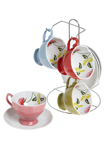 Floral to Ceiling Tea Set - Multi