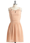 Under the Pavilion Dress by Jack by BB Dakota - Mid-length, Pink, Solid, Cutout, A-line, Spaghetti Straps, Wedding, Spring
