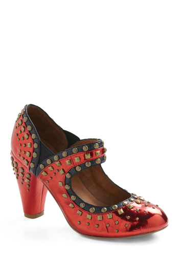 Modern Day Dorothy Heel by Jeffrey Campbell - Red, Black, Studs, Party