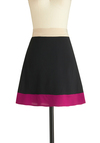 My Very Best Palette Skirt - Black, Purple, Tan / Cream, A-line, Short