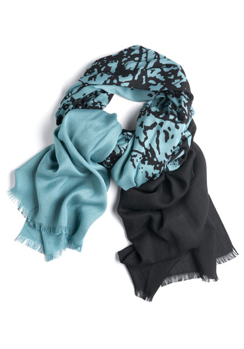 Sunset the Mood Scarf - Casual, Blue, Grey, Print