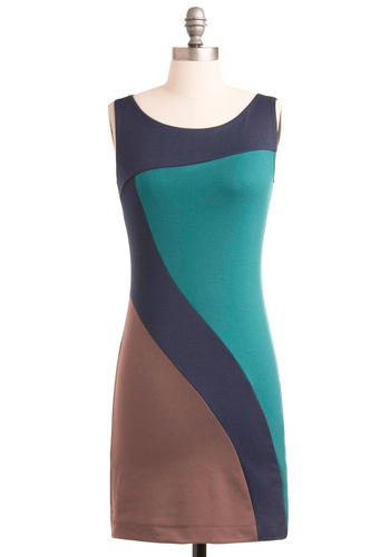 Render Them Speechless Dress - Brown, Exposed zipper, Shift, Party, Sleeveless, Short, Green, Blue