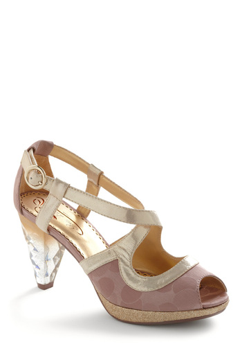 Need I Say Amour Heel by Poetic License - Wedding, Vintage Inspired, Purple, Gold, Party