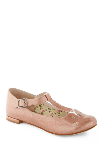 Cotton Candy Gloss Flat by Shellys of London - Fairytale, Pink, Solid, Cutout, Casual, Spring