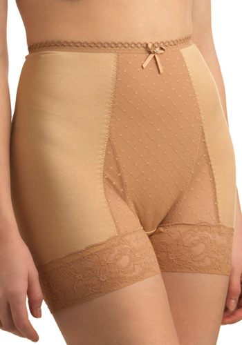 Luxe Life Contouring Undies - Tan, Solid, Bows, Lace, Pinup, Vintage Inspired, 50s