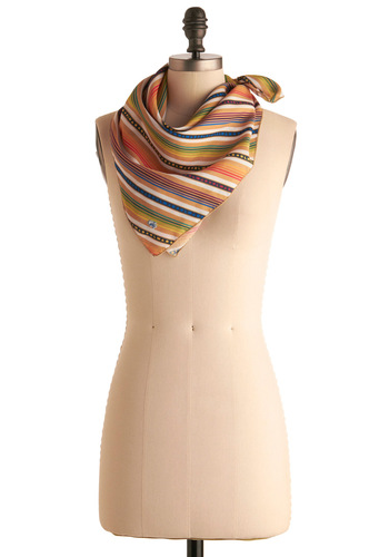 Vintage Shapes and Shades Scarf