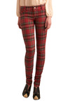 Never Plaid It So Good Jeans in Red - Long, Red, Plaid, Buttons, Pockets, Yellow, Blue, Black, White, Casual, Winter, Denim, 90s