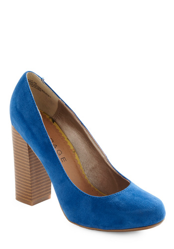 Hello, Blue-tiful Heel - Blue, Solid, Work