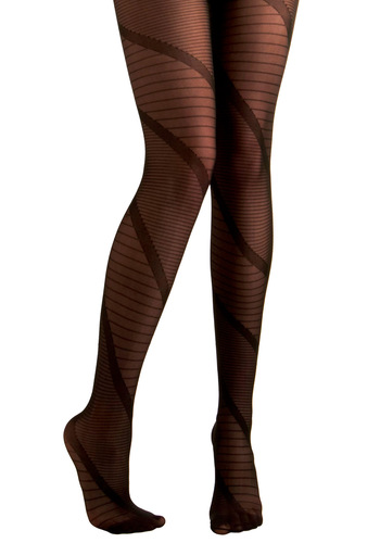 Now and Ladder Tights - Black, Stripes, Top Rated, Sheer