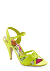 Get in Lime Heel - Green, Solid, Woven, Party, Spring