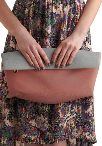 Shades of Romance Handbag - Pink, Solid, Prom, Wedding, Grey