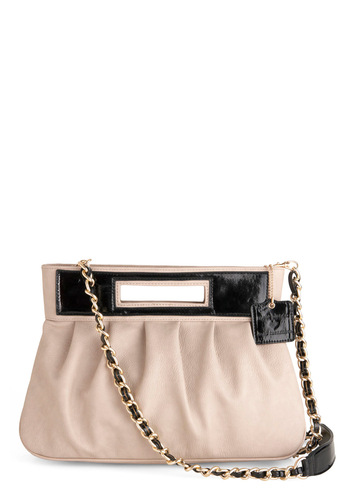 Couture Consultant Bag - Black, Chain, Party, White