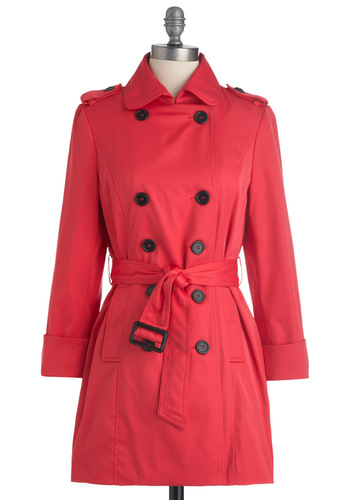 Femme in Fuchsia Coat - Solid, Buttons, Pockets, Long Sleeve, Pink, Epaulets, Spring, 2, Long