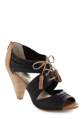 Solo Heel by Seychelles - Black, Solid, Tassles, Brown, Work