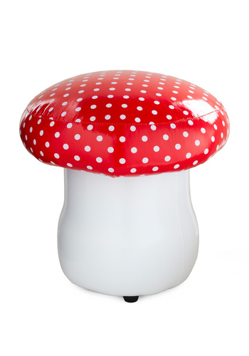 Sweet Spot to Sit Stool by Streamline - Dorm Decor, Red, White, Polka Dots, Mushrooms, Fairytale, Daytime Party