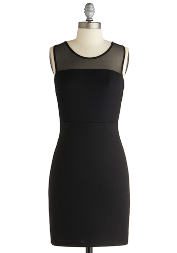 We Have to Go Backless Dress - Party, Film Noir, Black, Solid, Sleeveless, Cutout, Shift, Short, Girls Night Out, Cocktail, Bodycon / Bandage, Sheer