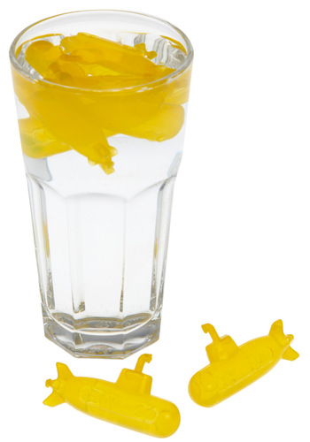 Sunny Submersible Ice Cube Set by Kikkerland - Yellow, Best Seller, Best Seller, Nautical, Summer, Good, Top Rated