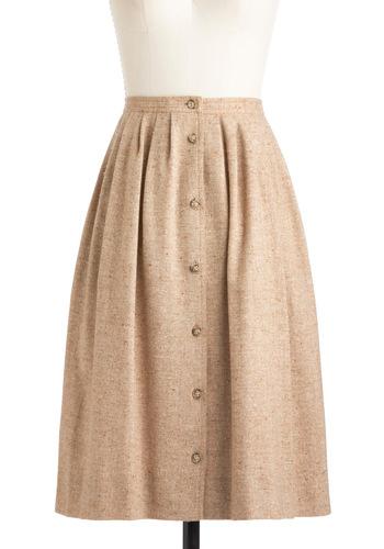 Vintage Tweed-ish Modern Skirt