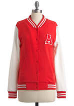 Red Letterman Day Jacket