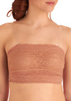 Lavish Layering Padded Bandeau in Rose - Floral, Lace, Pink, Variation