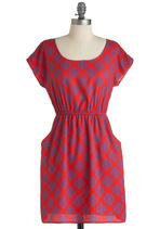 image of Letterpress Junket Dress