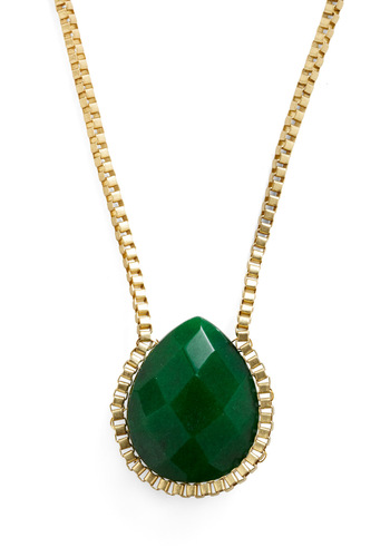 Added Charm Necklace - Green, Gold, Wedding, Party