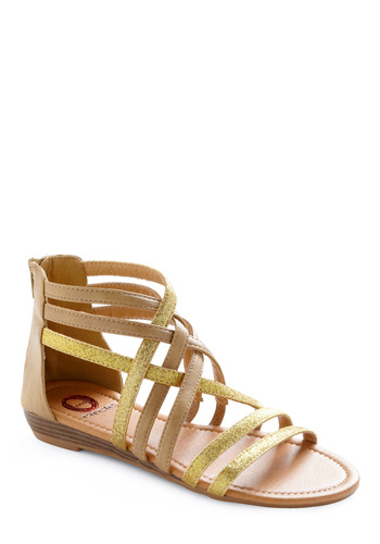 Either Oro Sandal - Tan, Gold, Casual
