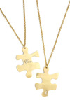 We Fit Together Necklaces by Monserat De Lucca - Gold, Solid, Casual