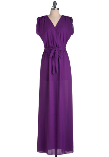 Plum Speechless Dress - Long, Purple, Solid, Maxi, Sleeveless