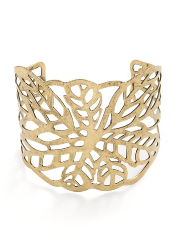 Filament With Joy Bracelet - Gold, Solid, Cutout, Girls Night Out
