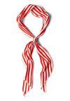 Bow to Stern Scarf in Crimson Stripes