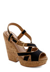 Sedimentary, My Dear Wedge - Black, Brown, Buckles, Summer, Wedge, Low, Chunky heel