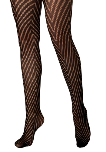 The One for V Tights - Pinup, Black, Stripes, Party