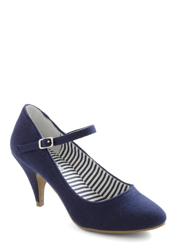 Dock Star Heel by Bait Footwear - Blue, Solid, Buckles, Nautical, Mary Jane, Mid